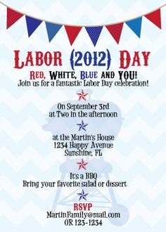 10 Great Examples Of Labor Day Invitations Labor Day Ideas