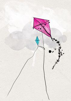 flying kite illustration - photo #42