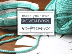 Create this woven bowl using the free printable template, a paper plate, & yarn. This is a great elementary / middle school art lesson to introduce weaving. Paper Plate Basket, Paper Basket Weaving, Paper Plate Crafts, Paper Plates, Middle School Art, Art School, Yarn Crafts For Kids, Camping Crafts, Teaching Art