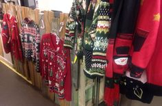 Today only....we are here 10-4 and all crazy Christmas sweaters are $9 or less!  #uglychristmassweaters