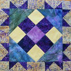 Free Quilt Pattern - Corner Star Block by Kelli Friede