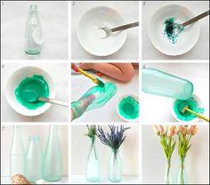 μπουκάλια χρώματα