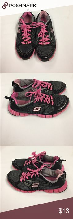 Skechers Runners Sneakers. Pink,Black and Gray. A lot of wear on shoes and bottoms. Still good for a workout. Skechers Shoes Sneakers