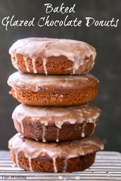 Baked Glazed Chocolate Donuts