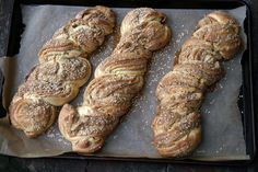 Loaves of Sweet Braided Tahini Bread