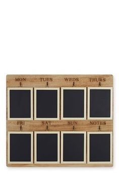 Days of the week chalkboard - great for to do lists and meal planning