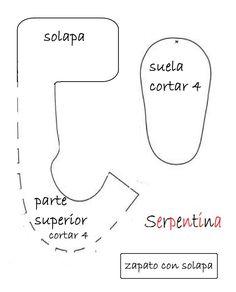 MOLDE SAPATINHO DE BEBE ENCONTRADO NA NET