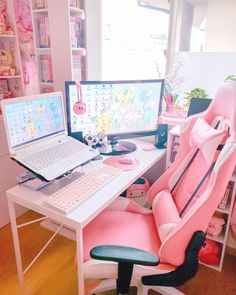 42 Fabulous Game Room Design Ideas To Try In Your Home Have you been thinking of finishing your basement? If so, you know you have multiple different paths you could take. … - Awesome 42 Fabulous Game Room Design Ideas To Try In Your Home. Ultimate Gaming Room, Deco Gamer, Kawaii Bedroom, Gaming Room Setup, Pc Setup, Gaming Rooms, Gaming Chair, Computer Room Decor, Game Room Design