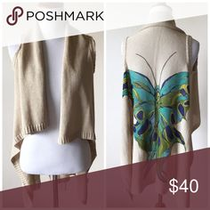 Anthropologie Sparrow Butterfly Cardigan Vest Brand is Sparrow, purchased at Anthropologie • Size S • Excellent condition, a few very minor pills Anthropologie Sweaters Cardigans