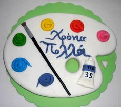 Painter's pallet 2D Cake Topper 100% by SweetCakeByAnastasia