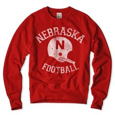 Nebraska Football Crewneck Sweatshirt - I wish I could find a hoodie like this for him.