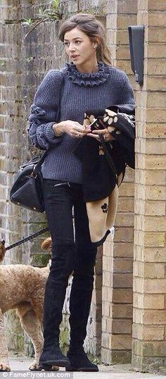 Eleanor walking Bruce in London