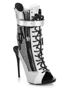 Giuseppe Zanotti - Studded Platform Bootie Sandals - Saks.com