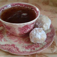 "Christmas Tea and ""Snowballs""... our family fav"