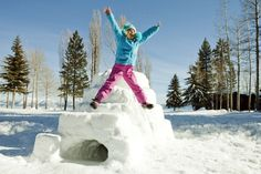 Tips for building the best snow fort ever!