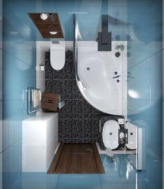 Cuarto de baño pequeño con tina y ducha 002                                                                                                                                                     Más