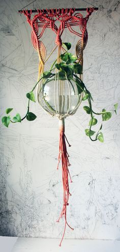 Macrame Plant Hanger by SlowDownProductions on Etsy, $52.00