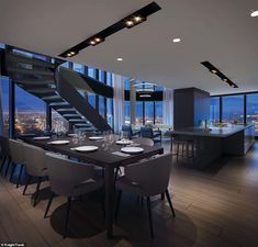 A luxury three-bedroom apartment in the second tallest residential tower ever constructed in the southern hemisphere is Home Room Design, Dream Home Design, Modern House Design, Villa Design, Luxury Home Designs, Flat Design, Design Design, Penthouse Apartment, Dream Apartment