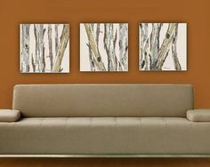 40% Discount Clearance Sale VERY Large Canvas Wall art Print Set Eucalyptus tree pastels white gray blue yellow dining room kitchen artwork