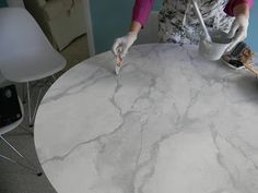 GORGEOUS SHINY THINGS: How To Happy Hour- Faux Carrara Marble + IKEA hack