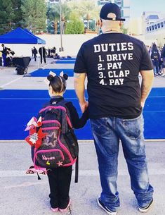 Cheer dad duties All sports practically Cheer Dad Shirts, Cheer Coach Shirts, Cheer Team Gifts, Cheerleading Shirts, Gymnastics Shirts, Cheer Coaches, Dad To Be Shirts, Sports Shirts, Mens Gymnastics