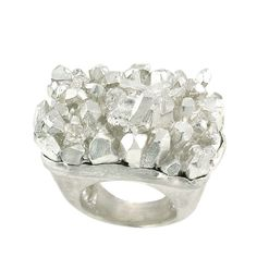 Silver ring (silver 'crystals')
