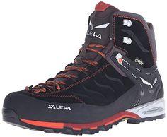 Salewa Mens Mountain Trainer Mid GTX Boots Black Indio 8 ETip Glove Bundle    Check out 92bbead8ead