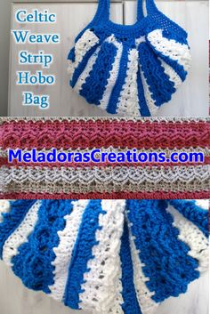 Celtic Weave Strip Hobo Bag - Free crochet pattern & video tutorial by Meladora's Creations