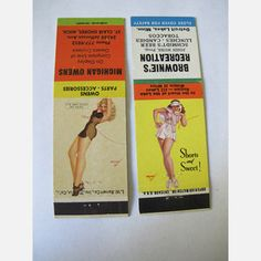Petty PinUp Matchcovers Pair, $60, now featured on Fab.