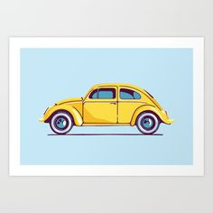 Beetle by Alexandra Mazurina Volkswagen Beetles, Car Volkswagen, Beetle Drawing, Bug Car, Drawing Bag, Beatles Art, Beetle Car, Transformers Bumblebee, Technical Drawings