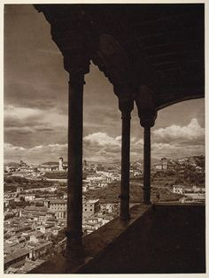View of the Albaicin from the Queen's Boudoir in the Alhambra,Spain - 1925 photo by Kurt Hielscher Alhambra Spain, Granada Spain, Nerja, Urban Beauty, Balearic Islands, Architecture Old, Sierra Nevada, The Province, Andalusia
