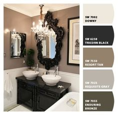 COLORS ARE GREAT FOR FURNITURE PIECES - ROCKPORT GRAY IS BETTER SUITED - USE THE TRICORN BLACK ON FURNITURE Great neutral color palette for a small home from Dana at House*Tweaking
