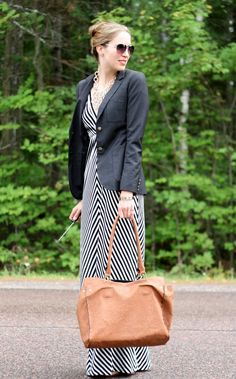 Stealstylist.com: HOW TO MAKE A MAXI DRESS WORK IN THE OFFICE