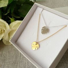 Monstera Necklace Silver/Gold Monstera Leaf Necklace