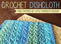 Crochet Dishcloth Free Crochet Pattern | by Little Monkeys Crochet