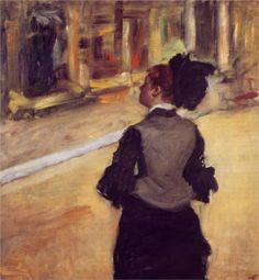 """""""A Visit to the Museum,"""" Edgar Degas"""