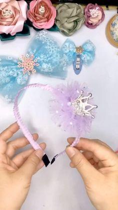 Diy Bow, Diy Ribbon, Ribbon Crafts, Making Hair Bows, Diy Hair Bows, Diy Hair Clips, Handmade Hair Bows, Diy Baby Headbands, Diy Headband
