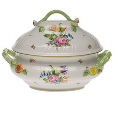 Herend Printemps Tureen With Branch Handles Herend