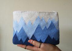 Blue Ombré Crochet Pouch / Tapestry Crochet Pattern / Crochet