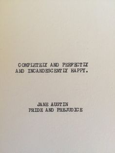 THE JANE AUSTIN: Typewriter quote on 5x7 cardstock by WritersWire