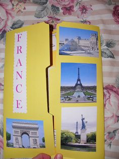 A lapbook on France~beginning our studies of different countries. Science Fair Projects Boards, School Projects, France For Kids, France Craft, Country School, Reading Projects, Geography Lessons, Plakat Design, French Classroom