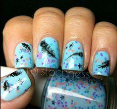 Polish Me Silly Neon Blue Gypsy Glitter Nail Polish Indie Polish | eBay