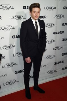Brooklyn Beckham #suits up in Burberry - 2015 Glamour Women of the Year Awards