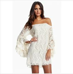 2014 Summer saias femininas,White Lace Sexy Beach Empire Slash Neck roupas femininas