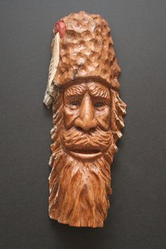 Mountain Man Carving by William Rogers