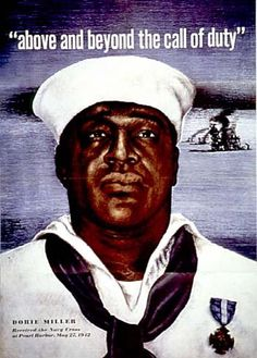 "Doris ""Dorie"" Miller (October 12, 1919 – November 24, 1943) was a cook in the United States Navy noted for his bravery during the attack on Pearl Harbor on December 7, 1941. He was the first African American to be awarded the Navy Cross, the third highest honor awarded by the U.S. Navy at the time, after the Medal of Honor and the Navy Distinguished Service Medal. The Navy Cross now precedes the Navy Distinguished Service Medal."