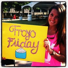 Phi Mu's Froyo Friday!  For informal recruitment, have fun events for potential new members to attend.  Have froyo at the house, go bowling, or schedule a pottery class.