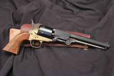EIG Colt 1851 Navy Replica .36 Cal. Black Powder Revolver, Antique w/ Holster