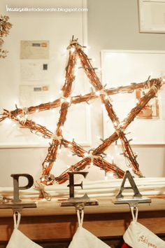 DIY Rustic Christmas Star | Because I Like To Decorate
