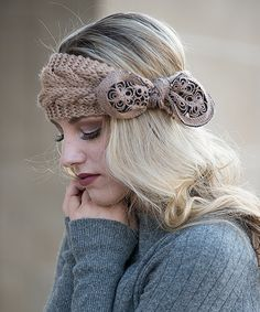 Miss Ailis Corner Camel Embroidered-Bow Head Wrap | zulily . $9.99 $20.00  . 